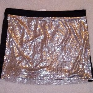 Bebe mini sequence skirt